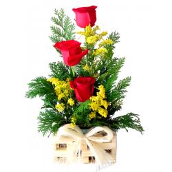Arranjo c/3 Rosas