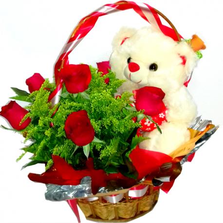 Cesta Amor de Rosas