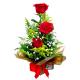 Arranjo c/3 Rosas estilo peteca